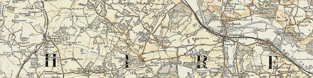 Old map of Upper Basildon in 1897-1900
