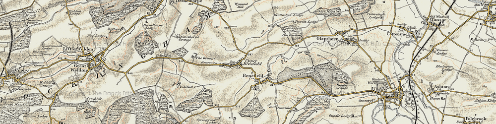Old map of Wymond Hill in 1901-1902