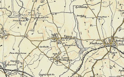 Old map of Upper Boddington in 1898-1901