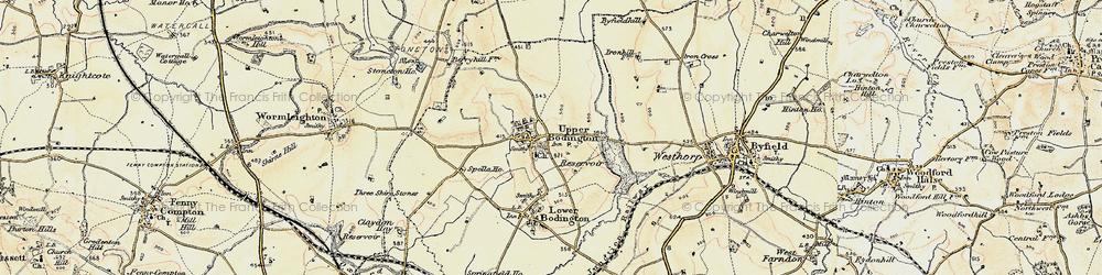 Old map of Upper Boddington in 1898-1901