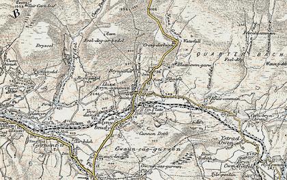 Old map of Upper Brynamman in 1900-1901