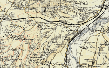 Old map of Wingate Wood in 1897-1898