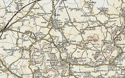 Old map of Upper Cam in 1898-1900