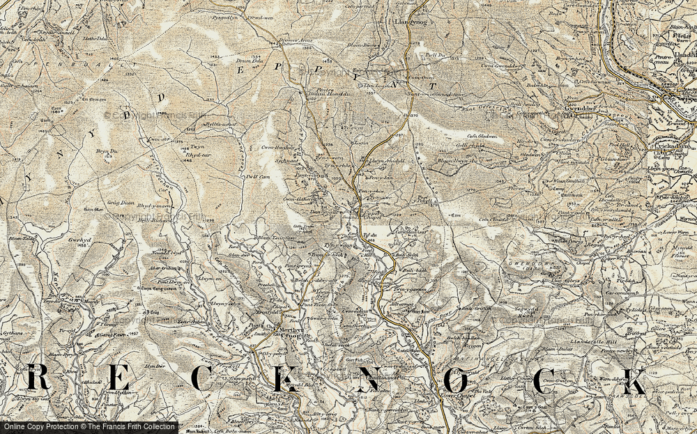 Old Map of Historic Map covering Baily Brith in 1900-1902