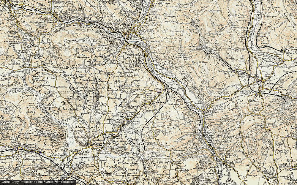 Old Map of Upper Church Village, 1899-1900 in 1899-1900