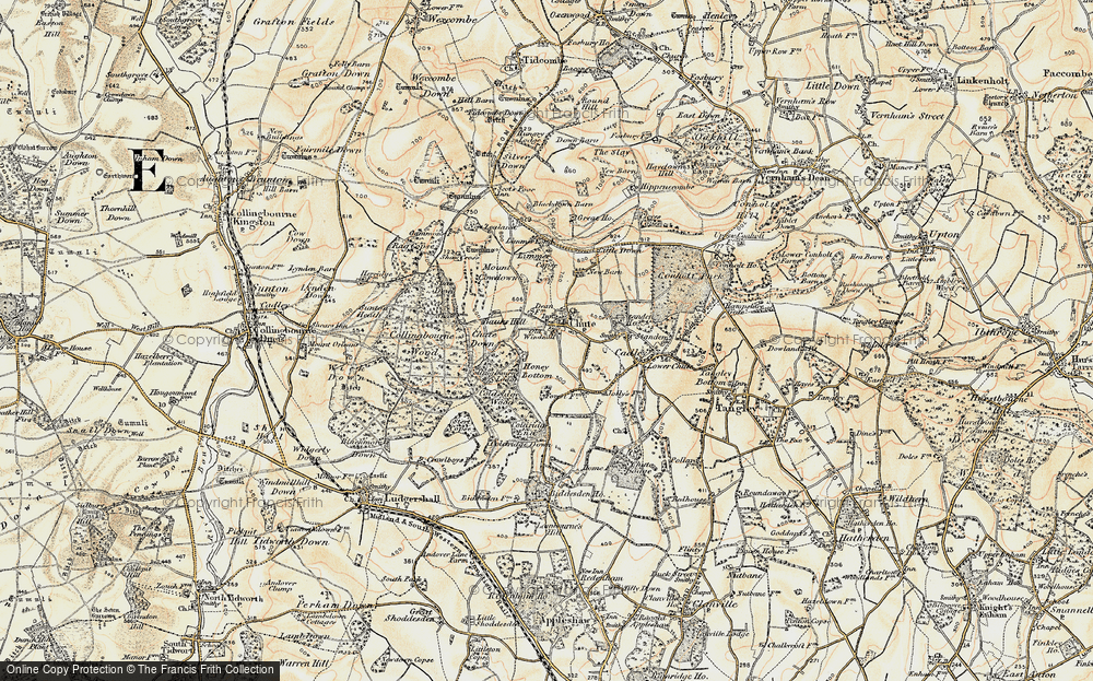 Old Map of Historic Map covering Limmer Copse in 1897-1899