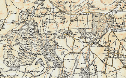 Old map of Limmer Copse in 1897-1899