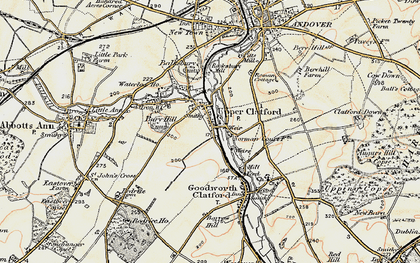 Old map of Upper Clatford in 1897-1900