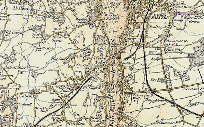 Old map of Linden in 1899-1901