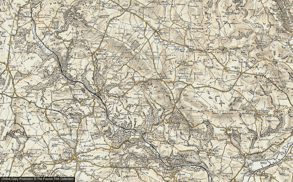 Old Map of Historic Map covering Lanehead in 1902