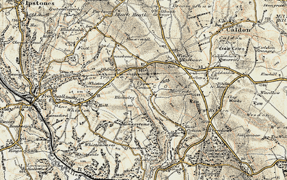 Old map of Lanehead in 1902