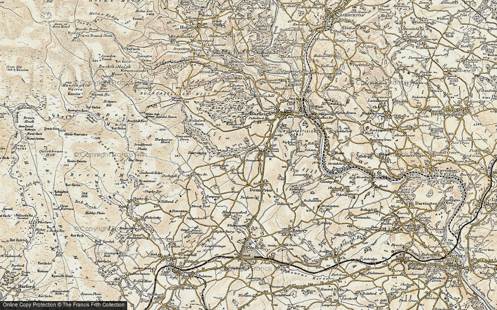 Old Map of Historic Map covering Addislade in 1899