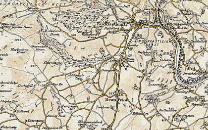 Old map of Addislade in 1899
