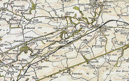 Old map of Banna (Roman Fort) in 1901-1904
