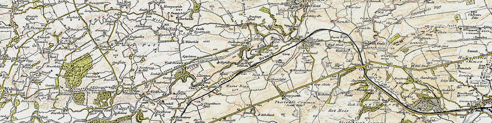 Old map of Appletree in 1901-1904