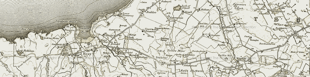 Old map of Achunabust in 1911-1912