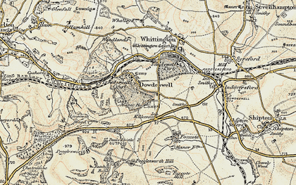 Old map of Upper Dowdeswell in 1898-1900