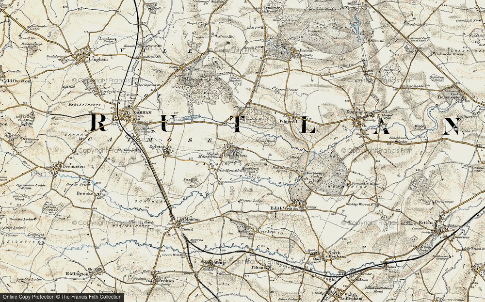 Old Map of Upper Hambleton, 1901-1903 in 1901-1903