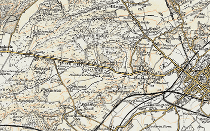 Old map of Tonford Manor in 1898-1899