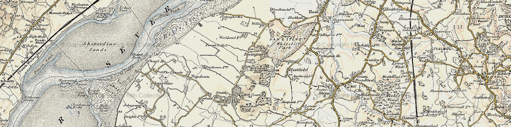 Old map of Willis Elm in 1899-1900