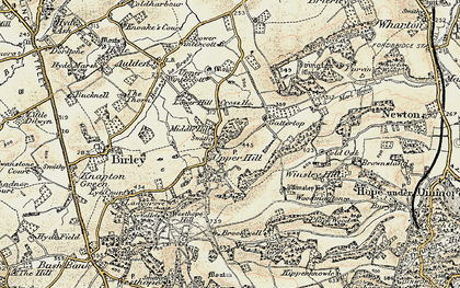Old map of Winsley Ho in 1900-1901
