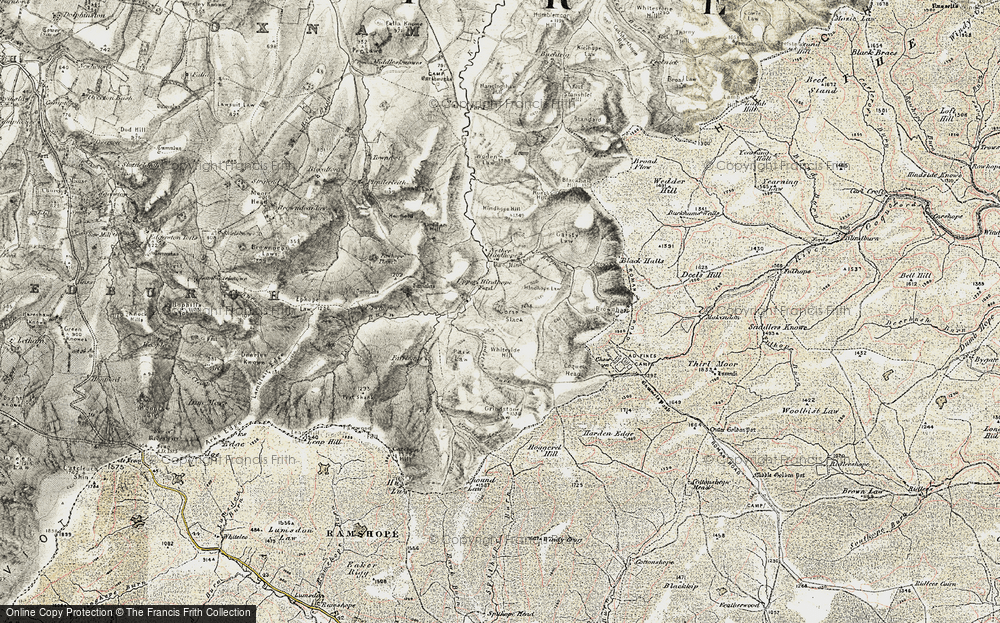 Old Map of Historic Map covering Leithope Forest in 1901-1904