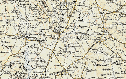 Old map of Windygates in 1902-1903