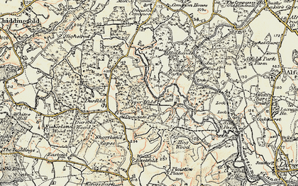 Old map of Upper Ifold in 1897-1900