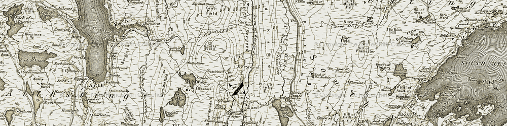 Old map of Whaa Field in 1911-1912