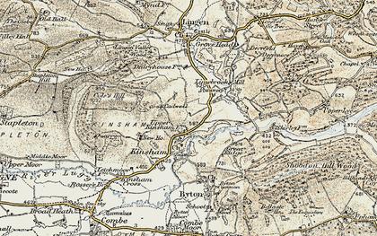 Old map of Lingen Vallet Wood in 1900-1903