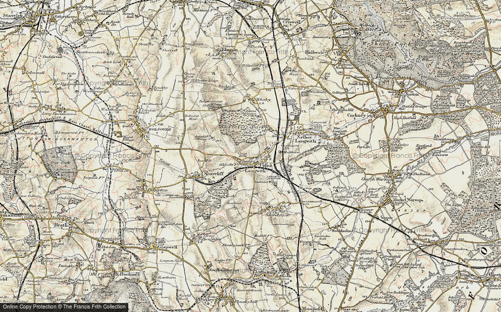 Old Map of Upper Langwith, 1902-1903 in 1902-1903