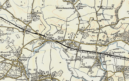 Old map of Lench Ditch in 1899-1901