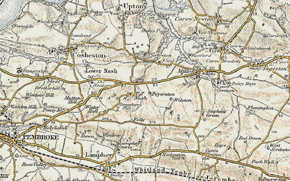 Old map of Winter Hall in 1901-1912