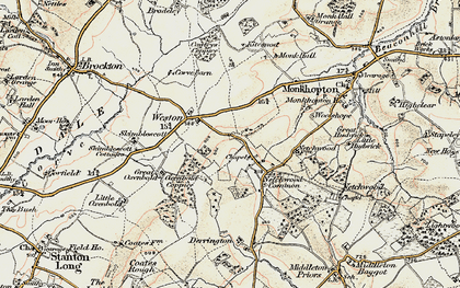 Old map of Woolshope in 1902