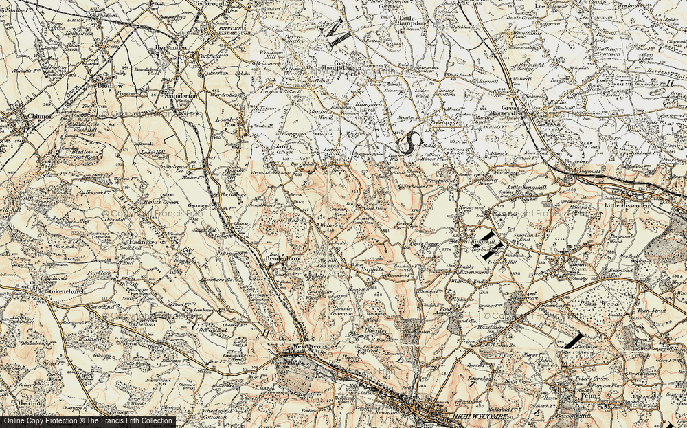 Old Map of Upper North Dean, 1897-1898 in 1897-1898