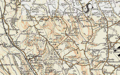 Old map of Upper North Dean in 1897-1898