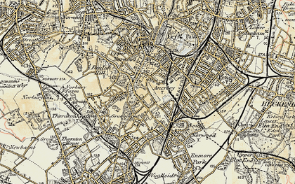 Old map of Upper Norwood in 1897-1902