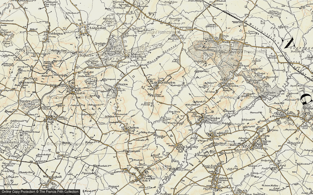 Old Map of Upper Pollicott, 1898 in 1898
