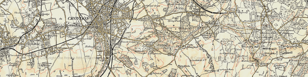 Old map of Addington Hills in 1897-1902
