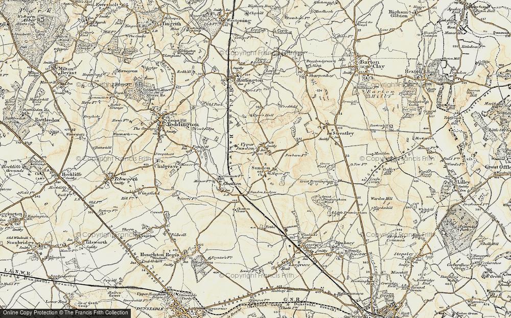 Old Map of Upper Sundon, 1898-1899 in 1898-1899