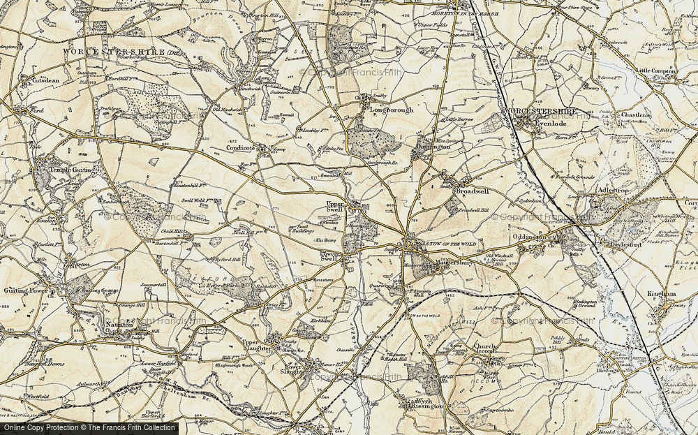 Old Map of Historic Map covering Abbotswood in 1899
