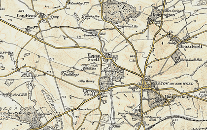 Old map of Abbotswood in 1899