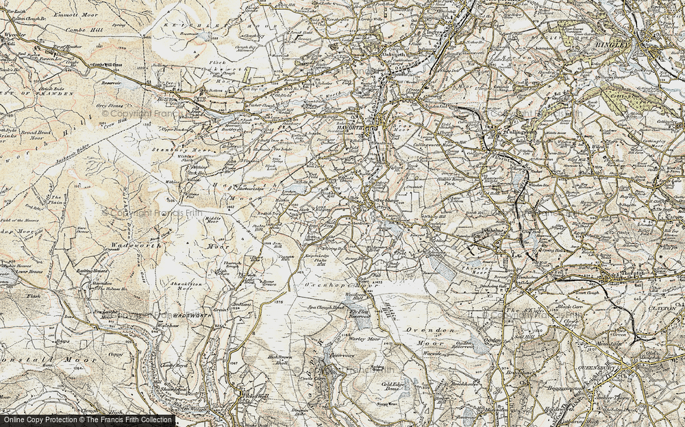 Old Map of Historic Map covering Thurrish Rough in 1903-1904