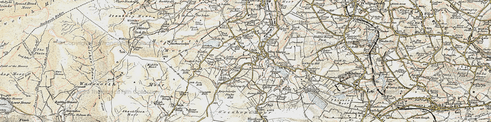 Old map of Yeoman Hill in 1903-1904