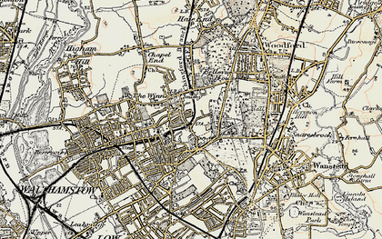 Old map of Upper Walthamstow in 1897-1898