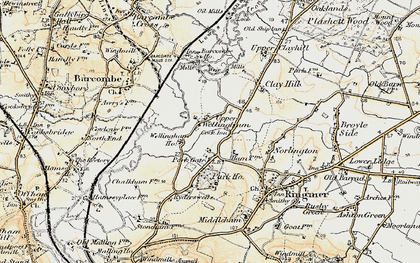 Old map of Barcombe Ho in 1898