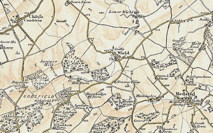 Old map of Wield Wood in 1897-1900