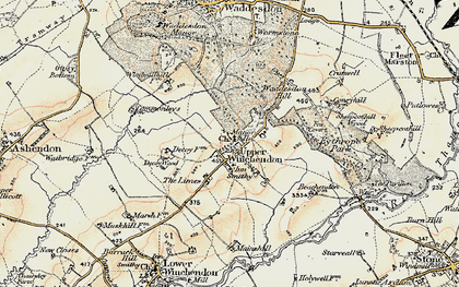 Old map of Upper Winchendon in 1898