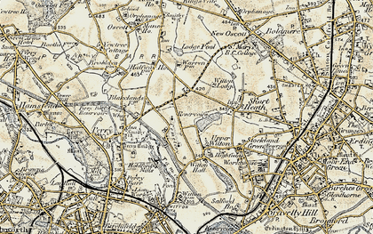 Old map of Witton Lakes in 1902