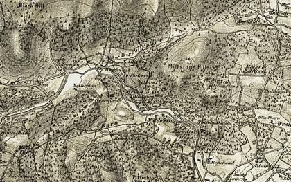 Old map of Tillybrack in 1908-1910